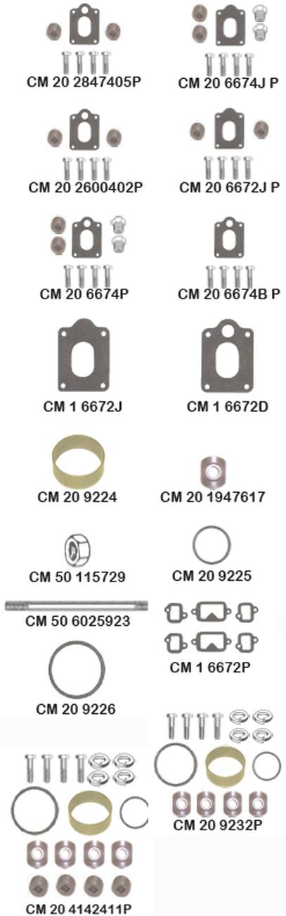 Barr Marine CM-1-6677SS-P Stainless Steel Mounting Kit