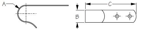 Sea-Dog Boat Hook Bracket Diagram