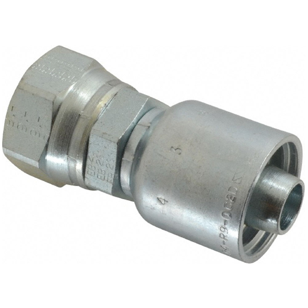 Parker 10543-12-8 Male Adapter w//O-Ring 3//4 SAE X 1//2 Hose Steel