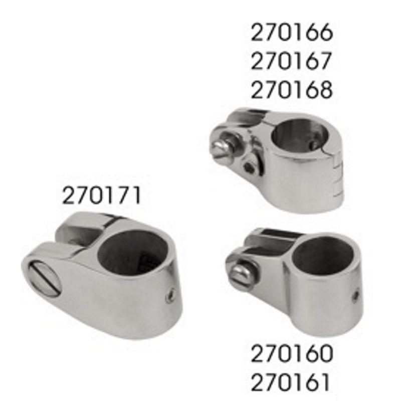 7//8 Double Jawslide Bimini Fitting Tilting Stanchion
