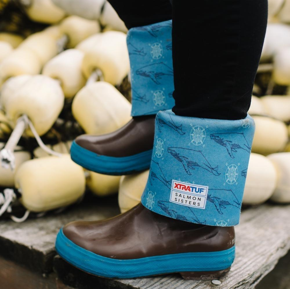 Legacy Boots w/ Salmon Sisters Whale Print