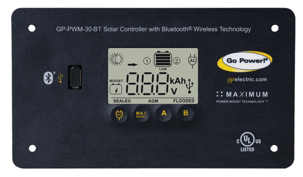 Go Power bluetooth capable charge control panel